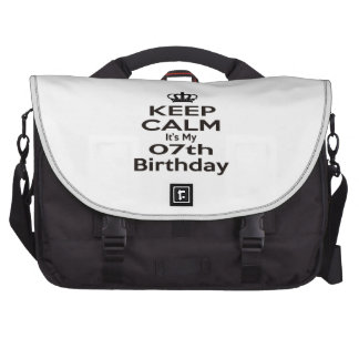 Keep Calm It's My 7th Birthday Bag For Laptop