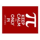 Keep Calm It's Only Pi (Pi = 3.142) Postcard
