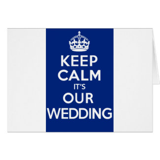 KEEP CALM its OUR WEDDING (blue) Card