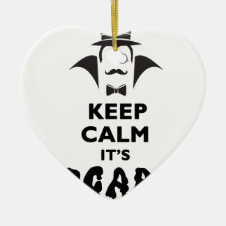 Keep calm it's scare time ceramic ornament