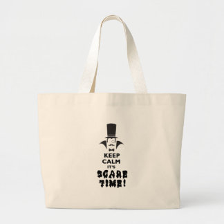 Keep calm it's scare time large tote bag