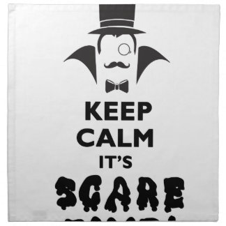 Keep calm it's scare time napkin