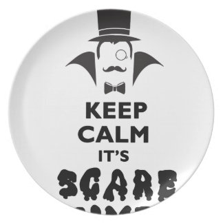 Keep calm it's scare time plate