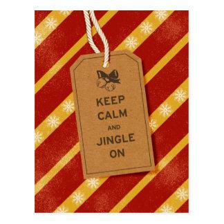Keep Calm & Jingle On Postcard