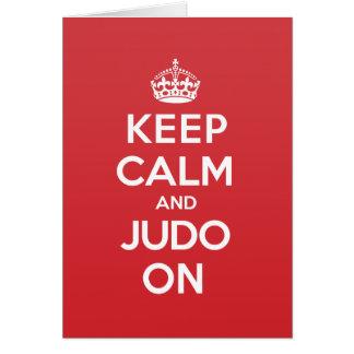 Keep Calm Judo Greeting Note Card