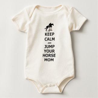 Keep Calm & Jump Your Horse Baby Bodysuit
