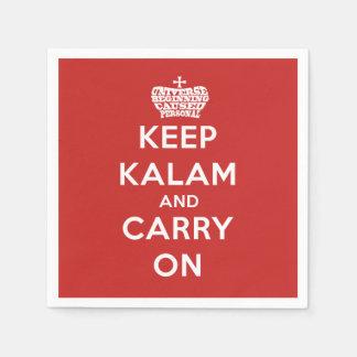Keep Calm / Kalam Apologetics Party Paper Napkins