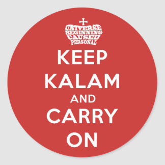 Keep Calm Kalam Apologetics Round Sticker