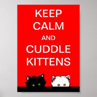 Keep Calm Kittens Poster