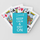Keep Calm Knit On • Crafts {Dark} Bicycle Playing Cards