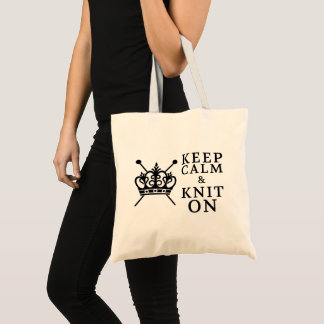 Keep Calm Knit On Crafts Tote Bag