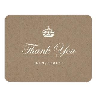 "Keep Calm Kraft Birthday Party Thank You Card 4.25"" X 5.5"" Invitation Card"