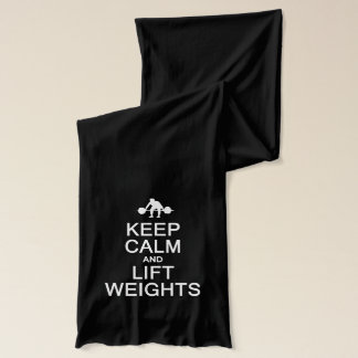 Keep Calm & Lift Weights scarfs Scarf