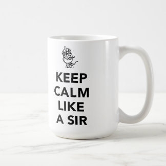 Keep Calm Like A Sir - with Crown Coffee Mug