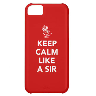 Keep Calm Like A Sir - with Crown iPhone 5C Cover