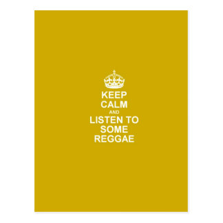 Keep Calm & Listen To Some Reggae Postcard