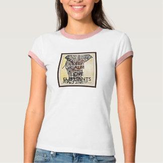 Keep Calm & Love Elephants T-Shirt