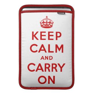 Keep Calm Macbook Air Sleeve