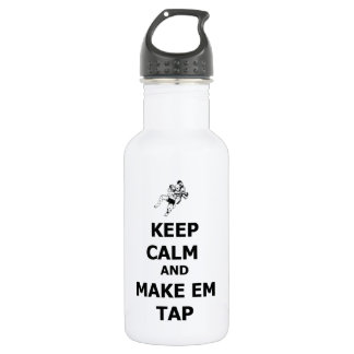 keep calm make em tap 532 ml water bottle