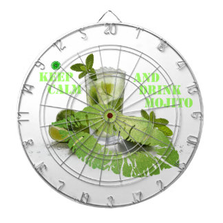 Keep Calm Mojito Dartboard
