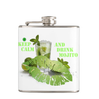 Keep Calm Mojito Hip Flask