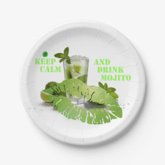 Keep Calm Mojito Paper Plate