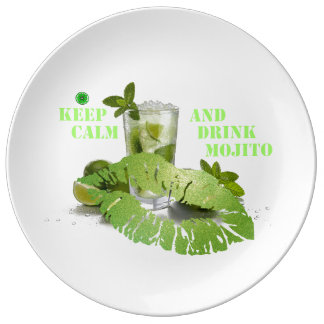 Keep Calm Mojito Plate