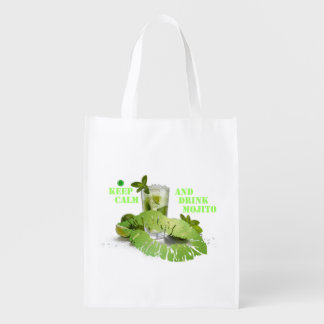 Keep Calm Mojito Reusable Grocery Bag