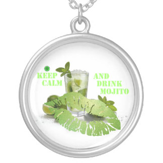 Keep Calm Mojito Silver Plated Necklace