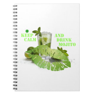 Keep Calm Mojito Spiral Notebook