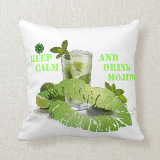 Keep Calm Mojito Throw Pillow