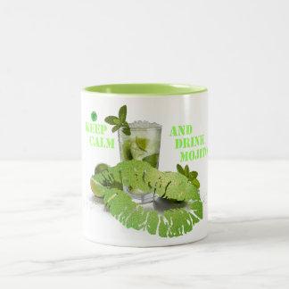 Keep Calm Mojito Two-Tone Coffee Mug