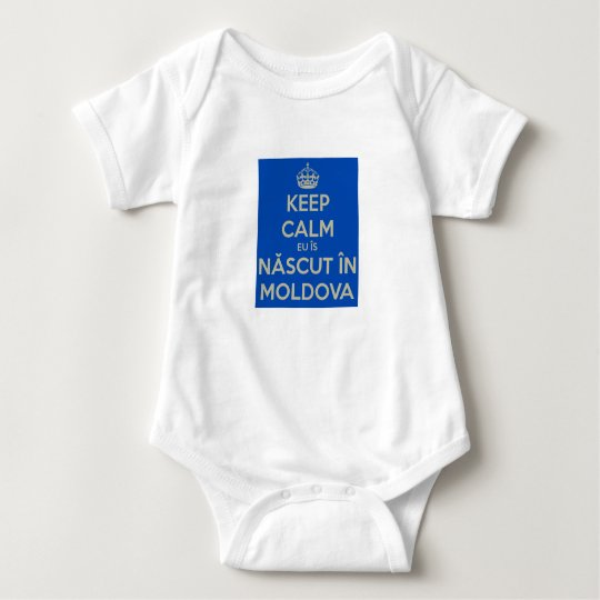 Keep Calm Moldova Baby Bodysuit