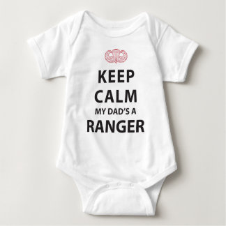 KEEP CALM MY DAD'S A RANGER BABY BODYSUIT