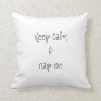 Keep Calm & Nap On Pillow