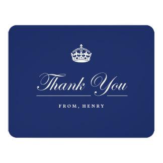"Keep Calm Navy Blue Birthday Party Thank You Card 4.25"" X 5.5"" Invitation Card"