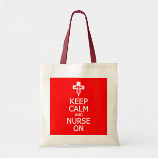 Keep Calm & Nurse On bag - choose style & color