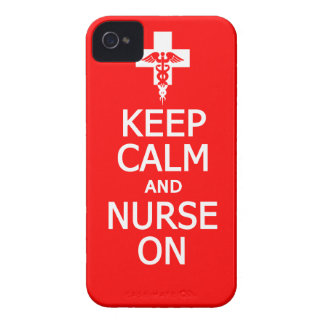 Keep Calm & Nurse On iPhone 4 Case-Mate iPhone 4 Case-Mate Cases