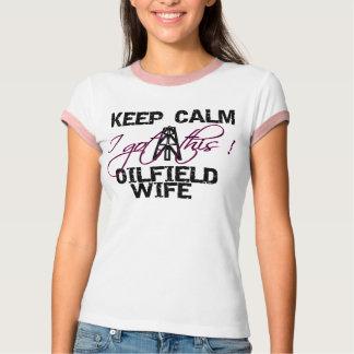 Keep Calm Oilfield Wife T-Shirt