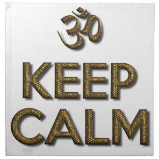 Keep Calm OM Napkin
