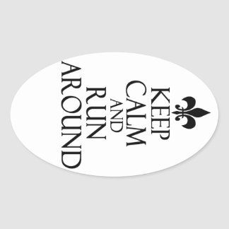 Keep Calm Oval Sticker