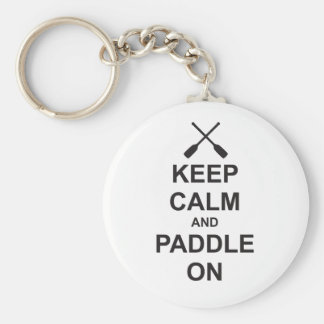 Keep Calm & Paddle On Basic Round Button Keychain