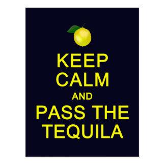 Keep Calm & Pass The Tequila postcard, customize Postcard