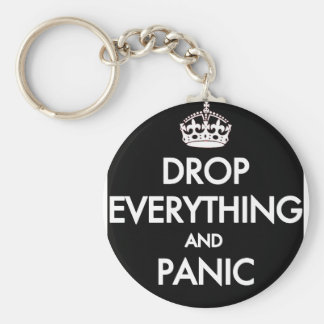 Keep Calm? Pfft! Basic Round Button Keychain