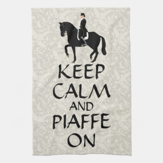 Keep Calm & Piaffe On Dressage Kitchen Towel