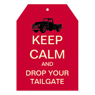 KEEP CALM Pickup Truck Tailgate Party Invitation