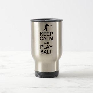 Keep Calm & Play Ball mug - choose style, color