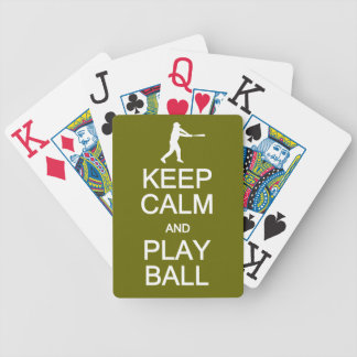 Keep Calm & Play Ball playing cards