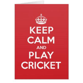 Keep Calm Play Cricket Greeting Note Card
