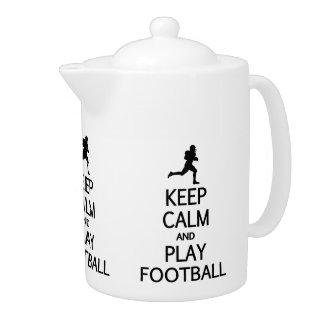 Keep Calm & Play Football teapot